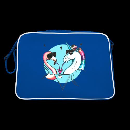 Flamingo & Einhorn - Retro Tasche