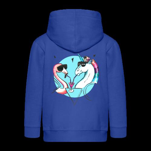 Flamingo & Einhorn - Kinder Premium Kapuzenjacke