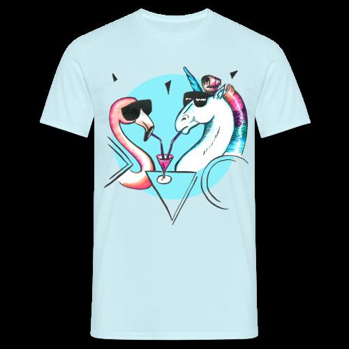 Flamingo & Einhorn - Männer T-Shirt