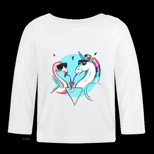 Flamingo & Einhorn - Baby Langarmshirt