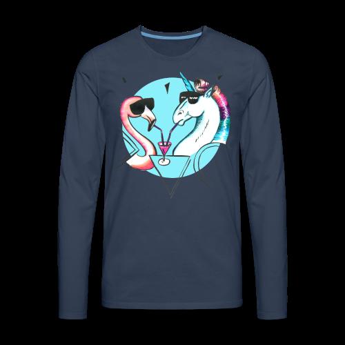 Flamingo & Einhorn - Männer Premium Langarmshirt