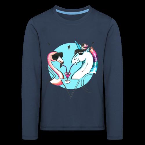Flamingo & Einhorn - Kinder Premium Langarmshirt