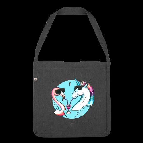 Flamingo & Einhorn - Schultertasche aus Recycling-Material
