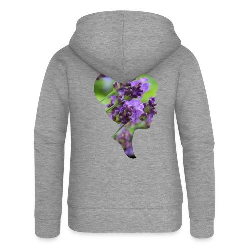 Lavendel-Dame - Frauen Premium Kapuzenjacke