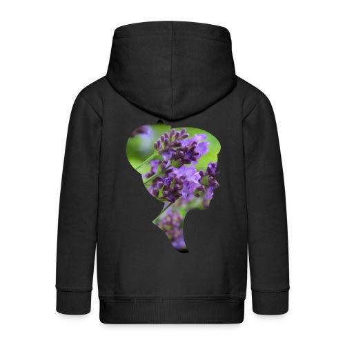 Lavendel-Dame - Kinder Premium Kapuzenjacke