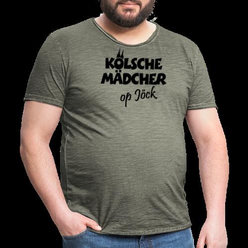 Kölsche Mädcher op Jöck Mädchen aus Köln Unterwegs - Männer Vintage T-Shirt