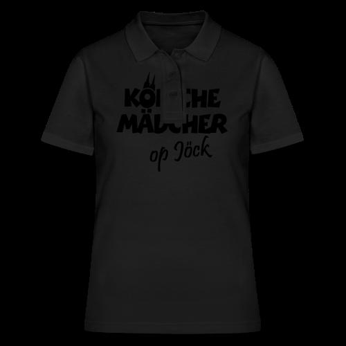 Kölsche Mädcher op Jöck Mädchen aus Köln Unterwegs - Frauen Polo Shirt