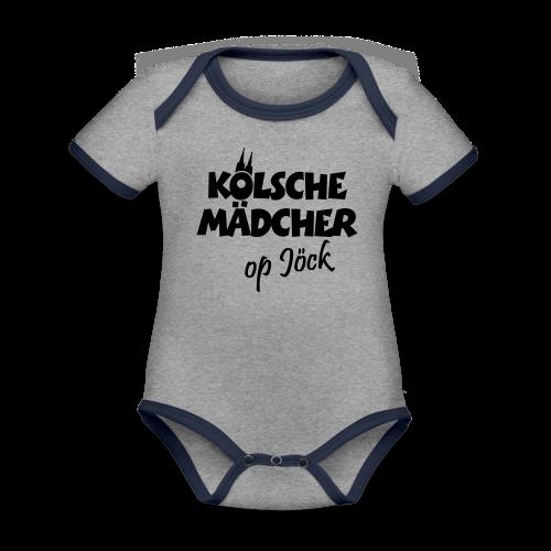 Kölsche Mädcher op Jöck Mädchen aus Köln Unterwegs - Baby Bio-Kurzarm-Kontrastbody