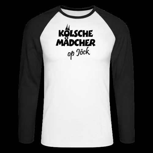 Kölsche Mädcher op Jöck Mädchen aus Köln Unterwegs - Männer Baseballshirt langarm
