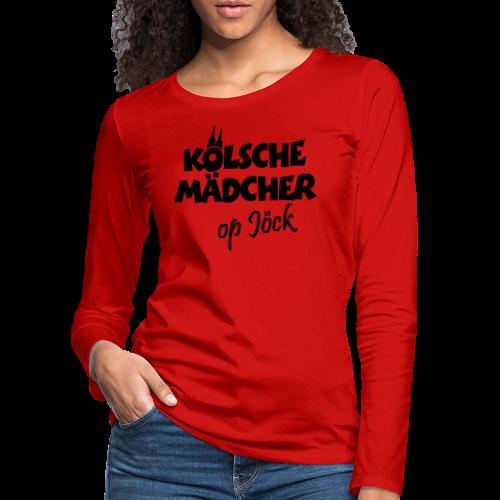 Kölsche Mädcher op Jöck Mädchen aus Köln Unterwegs - Frauen Premium Langarmshirt