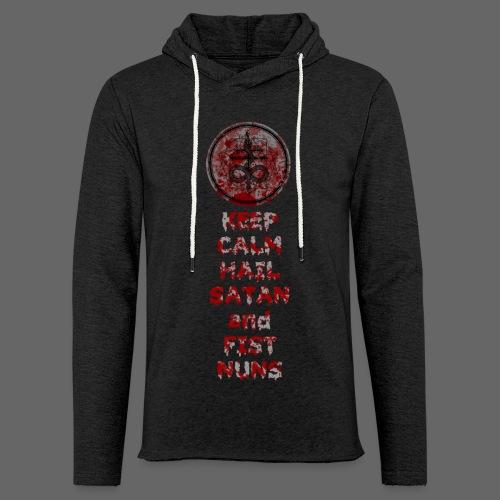 Keep Calm - Let sweatshirt med hætte, unisex