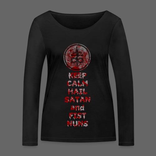 Keep Calm - Økologisk Stanley & Stella langærmet T-shirt til damer