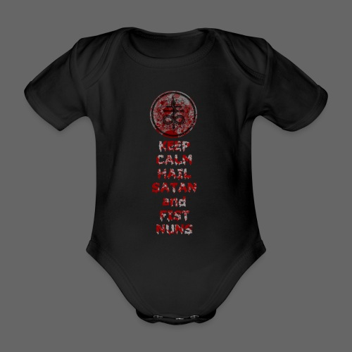 Keep Calm - Kortærmet babybody, økologisk bomuld