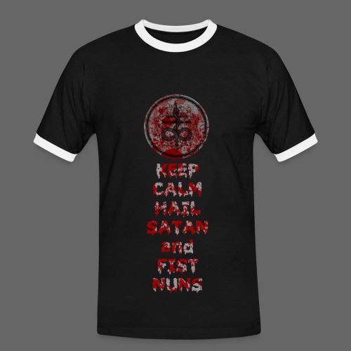 Keep Calm - Herre kontrast-T-shirt