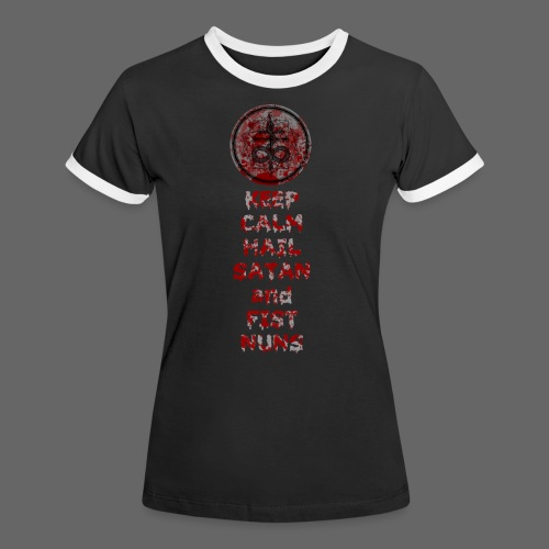 Keep Calm - Dame kontrast-T-shirt