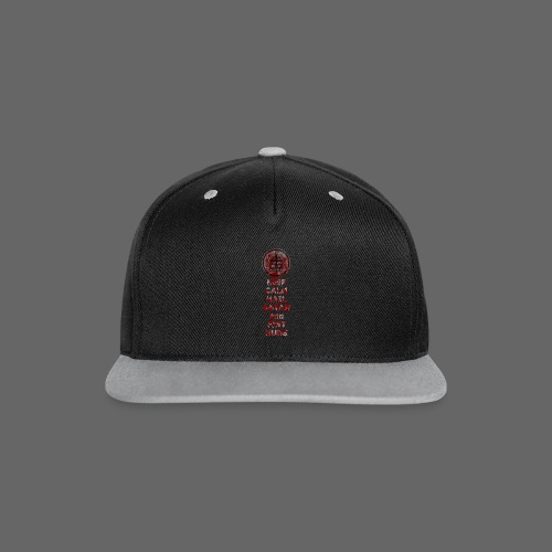 Keep Calm - Kontrast snapback cap