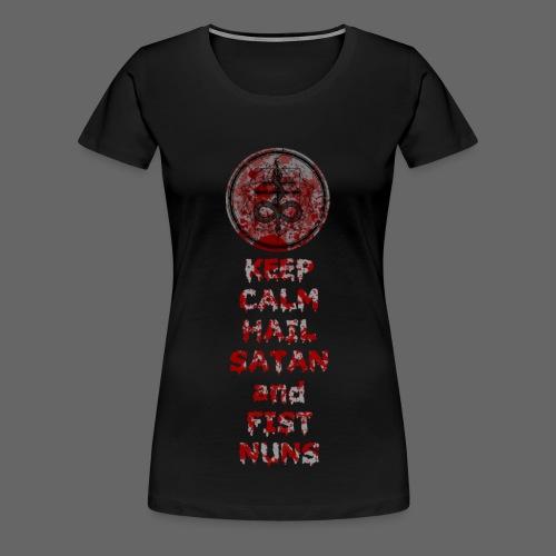 Keep Calm - Dame premium T-shirt
