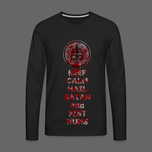 Keep Calm - Herre premium T-shirt med lange ærmer