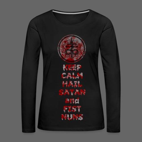 Keep Calm - Dame premium T-shirt med lange ærmer