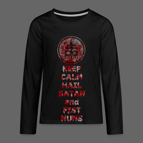 Keep Calm - Teenager premium T-shirt med lange ærmer