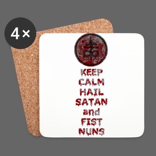 Keep Calm - Glasbrikker (sæt med 4 stk.)