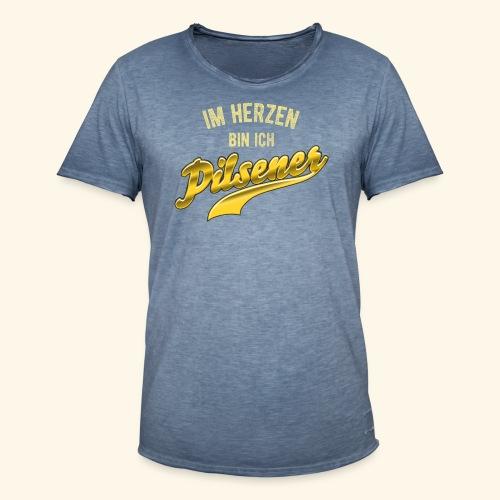 lustiges Bier-Shirt Pilsener - Männer Vintage T-Shirt