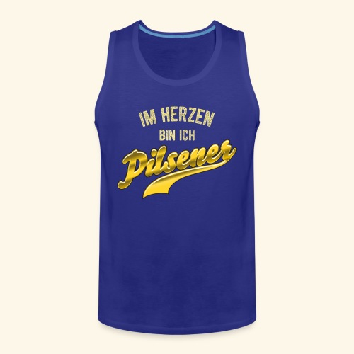 lustiges Bier-Shirt Pilsener - Männer Premium Tank Top