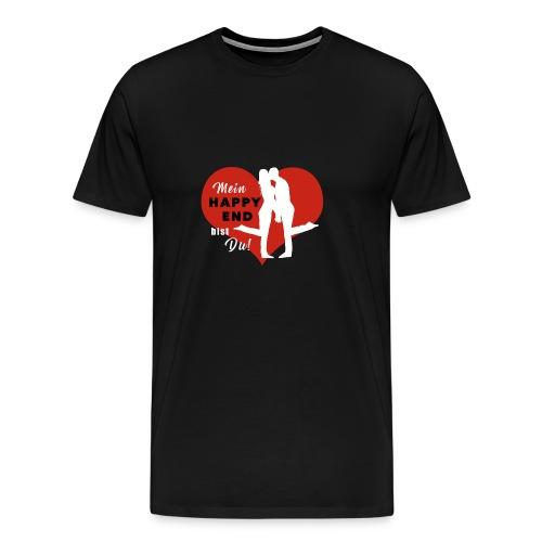 Happy End - weiss - Männer Premium T-Shirt
