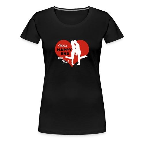 Happy End - weiss - Frauen Premium T-Shirt