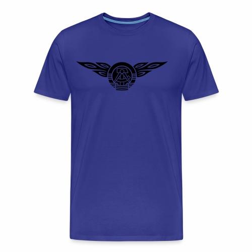 DDR Flammen Wappen 1c - Men's Premium T-Shirt