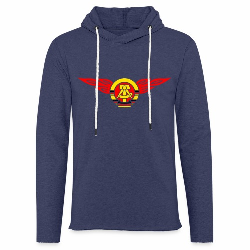 DDR Flammen Wappen 3c - Light Unisex Sweatshirt Hoodie
