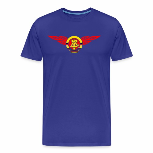 DDR Flammen Wappen 3c - Men's Premium T-Shirt