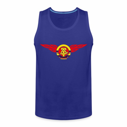 DDR Flammen Wappen 3c - Men's Premium Tank Top