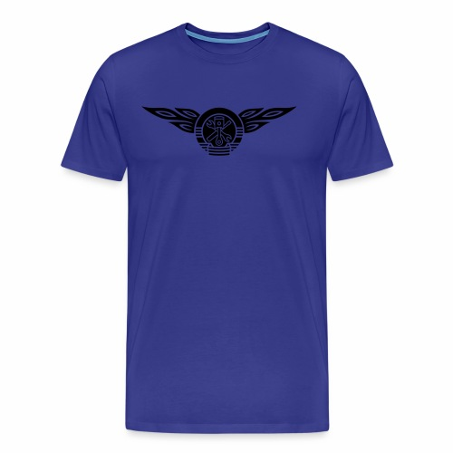 KFZ Flammen Wappen 1c - Men's Premium T-Shirt