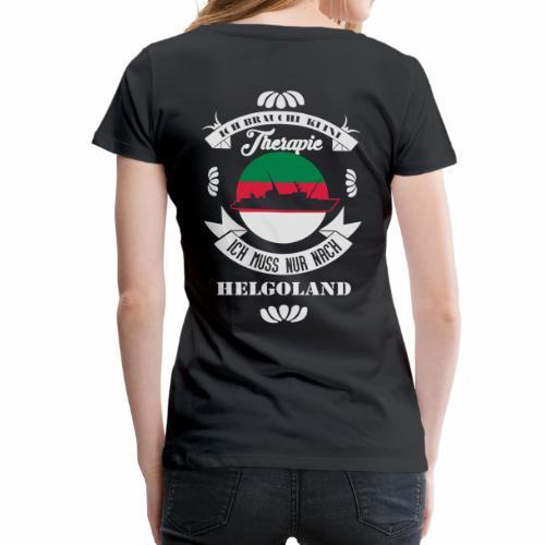 Helgoland mit der MS Helgoland in schwarz - Männer Premium T-Shirt von Hinten - Frauen Premium T-Shirt