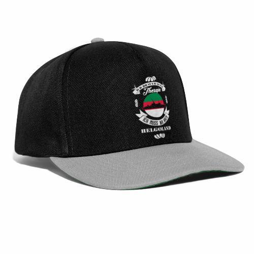 Helgoland mit der MS Helgoland in schwarz - Männer Premium T-Shirt von Hinten - Snapback Cap