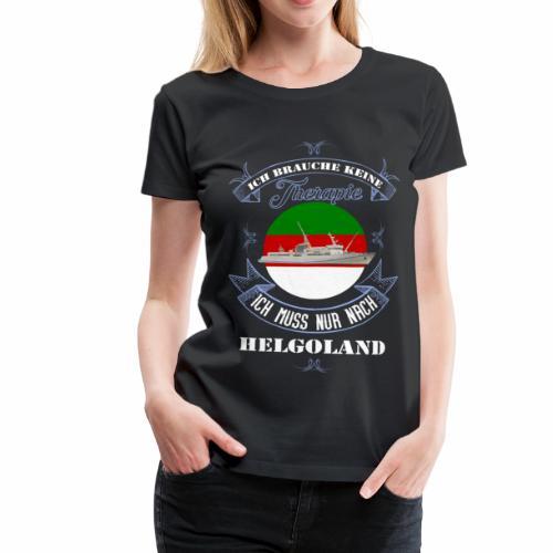 Helgoland mit der MS Helgoland in Farbe - Männer Premium T-Shirt - Frauen Premium T-Shirt