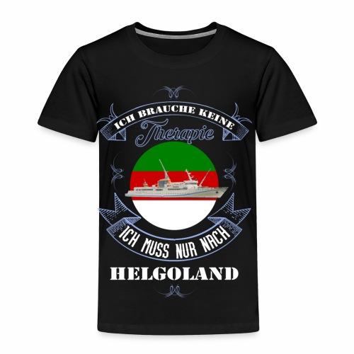 Helgoland mit der MS Helgoland in Farbe - Männer Premium T-Shirt - Kinder Premium T-Shirt