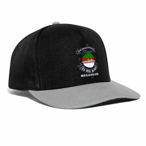 Helgoland mit der MS Helgoland in Farbe - Männer Premium T-Shirt - Snapback Cap