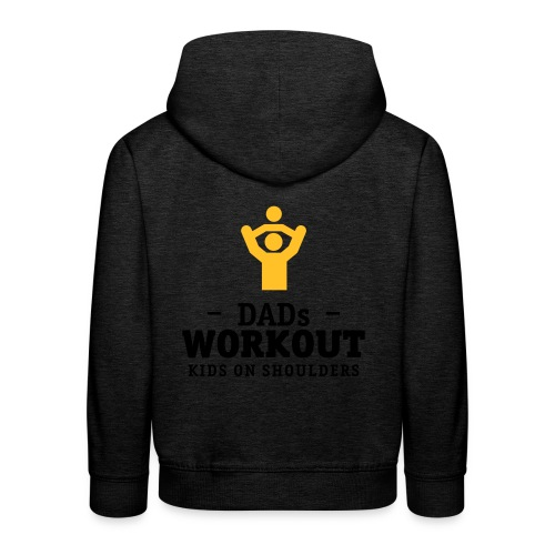 Dads Workout kids on shoulders