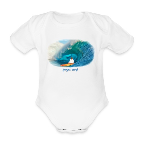 Yoga surf - Ekologisk kortärmad babybody