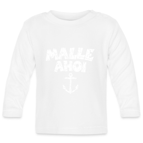 Malle Ahoi T-Shirt (Vintage Weiß) - Baby Langarmshirt