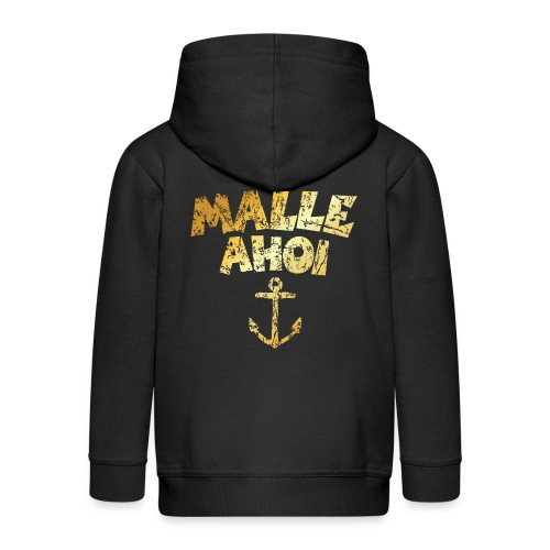 Malle Ahoi T-Shirt (Vintage Gold) - Kinder Premium Kapuzenjacke