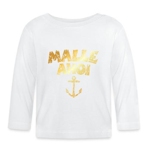 Malle Ahoi T-Shirt (Vintage Gold) - Baby Langarmshirt