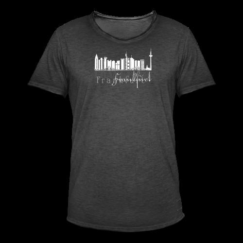 FFM - Frankfurt Skyline - Männer Vintage T-Shirt