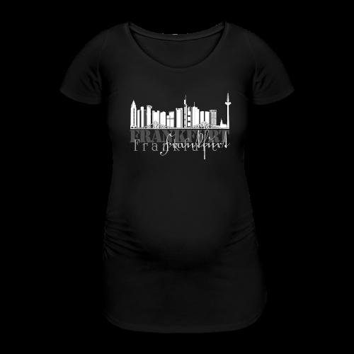 FFM - Frankfurt Skyline - Frauen Schwangerschafts-T-Shirt