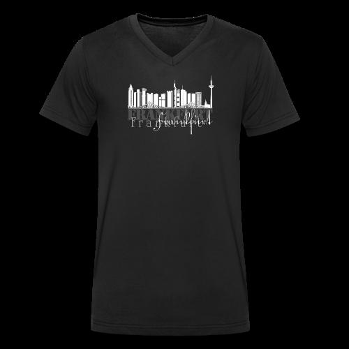 FFM - Frankfurt Skyline - Männer Bio-T-Shirt mit V-Ausschnitt von Stanley & Stella