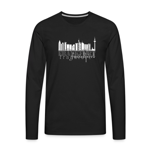 FFM - Frankfurt Skyline - Männer Premium Langarmshirt