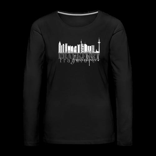 FFM - Frankfurt Skyline - Frauen Premium Langarmshirt