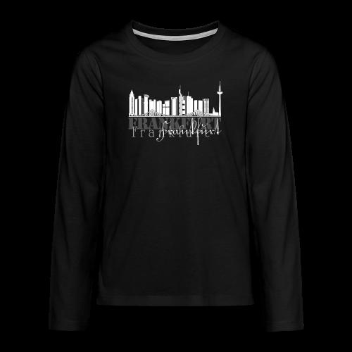 FFM - Frankfurt Skyline - Teenager Premium Langarmshirt